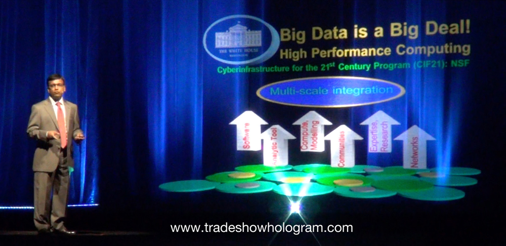 Large Stage Hologram for Telepresence